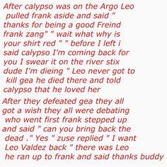 Awwwwwwww-bug why would leo die...he got calypso back