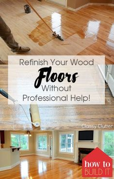 Refinish Wood Floors Without Professional Help - Refinish Your Wood Floors Without Professional Help! Home Renovation, Home Remodeling, Kitchen Sink Interior, Refinish Wood Floors, Hardwood Floor Refinishing, Clean Hardwood Floors, Home Repairs, Simple House, Home Improvement Projects