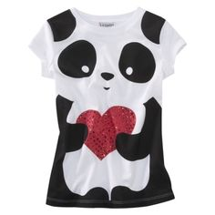 Panda graphic t-shirt Target $8.99 Another one I want to try to copy myself.
