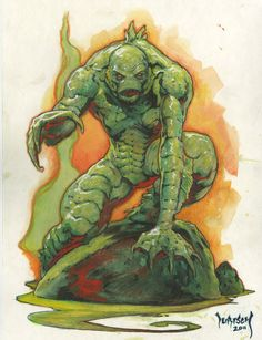 Creature from the Black Lagoon by Mike Dubisch ( ~Dubisch on deviantART )  dubisch.deviantart.com/ #deepone