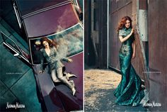 Norman Jean Roy, Great Ads, Drew Barrymore, Car Girls, Boss Lady, Editorial Fashion, Neiman Marcus, Campaign, Formal Dresses