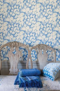 Designers Guild Fresco leaf wallpaper