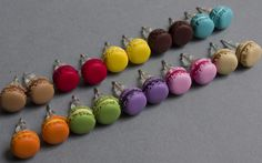 boucles d'oreilles-macarons-pate-polymere- FIMO