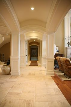 great molding & arched ceilings...