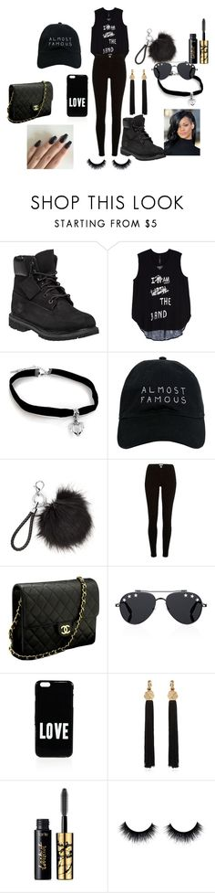 """""""black it  out"""" by aaliyahwebster ❤ liked on Polyvore featuring Timberland, Melissa McCarthy Seven7, Nasaseasons, River Island, Chanel, Givenchy, Yves Saint Laurent, tarte and plus size clothing"""