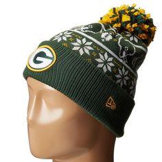 official photos 68c53 bdf90 Mens   Womens Green Bay Packers New Era NFL Sweater Chill On-Field Sports  Rib Knit Pom Pom Beanie Hat - Green