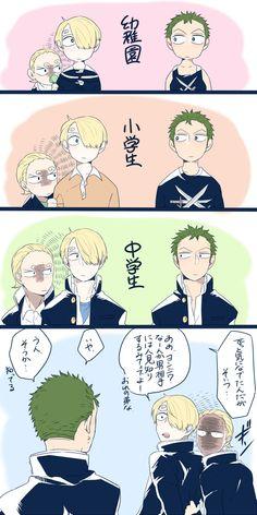 One Piece, Sanji,, Yonji, Zoro