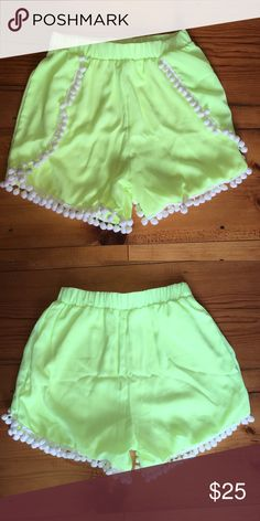 Mint julep boutique Pom Pom shorts Super cute shorts that can be dressed up or down!                                                                         Perfect condition⭐️no visible signs of wear⭐️       PRICE IS FINAL unless purchased off Poshmark mint julep boutique Shorts