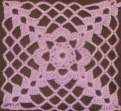 Anabelia craft design: New crochet square motif and a new crochet project Granny Square Crochet Pattern, Crochet Blocks, Crochet Squares, Crochet Motif, Crochet Doilies, Crochet Flowers, Crochet Symbols, Crochet Stitches Patterns, Thread Crochet