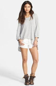Free People 'Storyteller' Oversized Thermal Top available at #Nordstrom