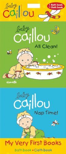 Baby Caillou: My Very First Books: All Clean! & Nap Time by Pierre Brignaud http://www.amazon.com/dp/2897180757/ref=cm_sw_r_pi_dp_2Mvqvb112RDPB