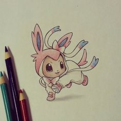 itsbirdy - New Eevee evolution drawing <3 Sooo cute!