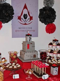 Assassins Creed Birthday Party!  See more party planning ideas at CatchMyParty.com!