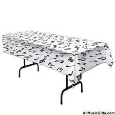 Music Notes Tablecover. Perfect for music parties, events or occasions like birthdays.