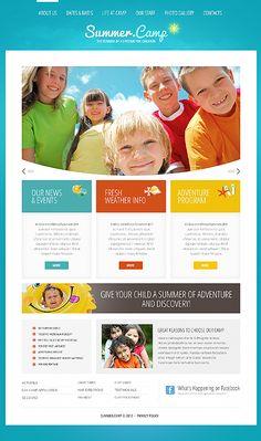 Summer Camp Joomla Template #website http://www.templatemonster.com/joomla-templates/41870.html?utm_source=pinterest&utm_medium=timeline&utm_campaign=camp