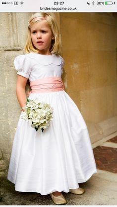 A-Line Princess Scoop Neck Ankle-Length Taffeta Flower Girl Dress With Sash 705fe027add