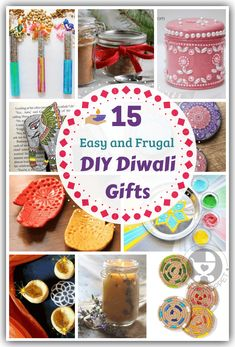 Skip the usual boring gifts and go handmade this year with these easy DIY Diwali gifts that you can make yourself! Save time, money and the environment! Fun Diy Crafts, Diy Arts And Crafts, Cool Diy Projects, Card Crafts, Kids Crafts, Diy Diwali Gifts, Diwali Craft, Homemade Gifts, Diy Gifts