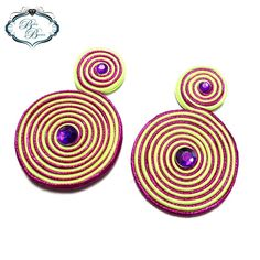 Soutache Earrings, Instagram, Stud Earrings, Bangle Bracelets, Keep Fighting, Soutache Jewelry, Handmade Jewelry, Accessories, Xmas