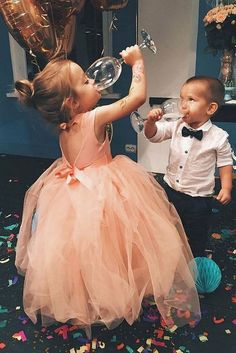 Wedding Pics Ball Gown Round Neck Open Back Peach Tulle Flower Girl Dress with Sash - Tulle Flower Girl, Tulle Flowers, Flower Girl Dresses, Peach Flower Girl Dress, Flower Girl Photos, Flower Ball, Perfect Wedding, Dream Wedding, Wedding Day