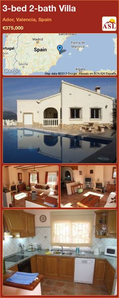 3-bed 2-bath Villa in Ador, Valencia, Spain ►€375,000 #PropertyForSaleInSpain