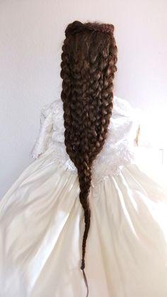 Haarschmuck & Kopfputz - Haarteil Sissi Echthaar Steckbrieffrisur Sisi - ein Designerstück von Zopfkronenliesl bei DaWanda