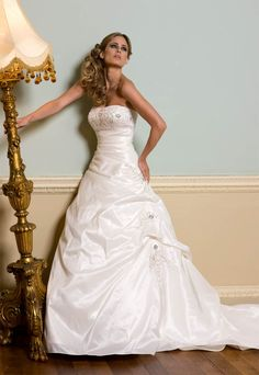 Gorgeous Whimsical Powder Blue Wedding Dress Bride