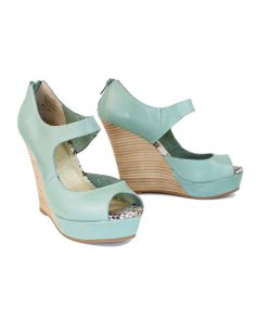 Picture of Down to the Wire Wedges - adore these but probably couldn't walk in them (and where would I go? Bridesmaid Shoes, Peep Toe, Wedges, Wire, Heels, Beautiful Things, Clothes, Fashion, Heel