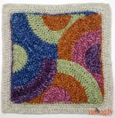 Moogly CAL Afghan Block Contours Square by Pia Thadani on Stitches 'n' Scraps - free crochet pattern. Crochet Afghans, Moogly Crochet, Crochet Motif Patterns, Crochet Lace Edging, Crochet Blocks, Crochet Borders, Crochet Chart, Crochet Squares, Crochet Granny