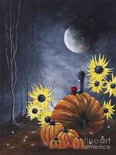 Midnight In The Pumpkin Patch by Shawna Erback by Shawna Erback