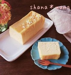 5 minutes to the oven ♪ Mecha rich terrine style cheesecake ♪ – Sweet World Ideas Asian Desserts, Sweet Desserts, Sweets Cake, Exotic Food, Food Crafts, Sweets Recipes, Cheesecake Recipes, Yummy Cakes, Food And Drink