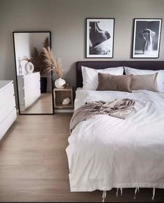 home decor apartment Small Room Bedroom, Home Decor Bedroom, Living Room Decor, Bedroom Ideas For Small Rooms For Adults, Scandinavian Interior Bedroom, Small Bedroom Designs, Scandinavian Living, Bedroom Modern, Minimalist Bedroom