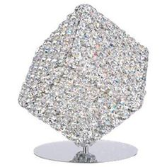 Square Table Lamp With Swarovski Crystals