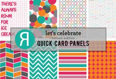 Reverse Confetti product release May 2015. Quick Card Panels: Let's Celebrate