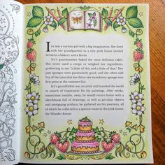 """Gefällt 33 Mal, 5 Kommentare - Peta Hewitt (@peta_hewitt) auf Instagram: """"First page in Ivy and the Inky Butterfly by Johanna Basford completed with Staedtler Ergosoft…"""""""