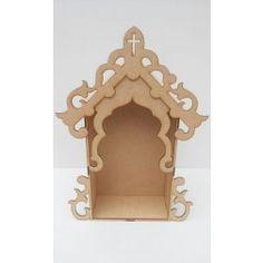 Temple India, Home Temple, Ganpati Decoration Design, Survival Knots, Pooja Mandir, Painted Wine Bottles, Diy Cardboard, Altered Boxes, Gothic Home Decor