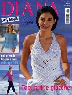 "Photo from album ""Diana Lady Maglia - on Yandex. Crochet Book Cover, Crochet Books, Knitting Magazine, Crochet Magazine, Diana, Crochet Chart, Knit Crochet, Knitting Books, Summer Tops"