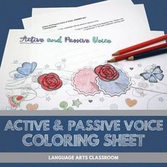 Get students coloring and coding with this grammar activity. Students will code active and passive voice verbs according to a key.