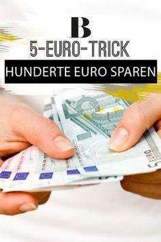 Geld sparen - so geht's. Hunderte Euro sparen, ohne wirklich was zu merken? Das klingt super! Deswegen hat uns dieser simple, aber effektive 5-Euro-Trick sofort begeistert.