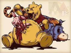 This compilation of 32 pieces of dark Disney fan art is absolutely the most disturbing on the Internet