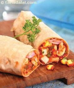 Punjabi cuisine is tempting and scary at the same time, thanks to the use of rich (fatty) ingredients! this tongue-tickling roll lets you enjoy the goodness of a punjabi subzi without piling on extra pounds. It's a fantastic combination of capsicum, mushrooms, sweet corn, and paneer, featuring a balance of flavours from sweet to spicy. It's also a powerhouse of antioxidants that help prevent heart-related ailments.