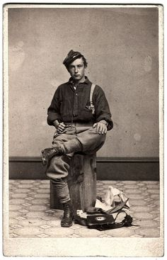 A Veteran Poses With His Accoutrements by Ron Coddington, via Flickr