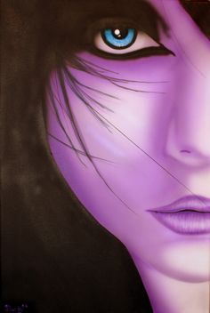 """new airbrushed canvas  """"Violet""""  www.luckyart.it"""
