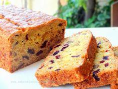 AMBROSIA: Cranberry Orange Bread ( almost a cake) Egg less