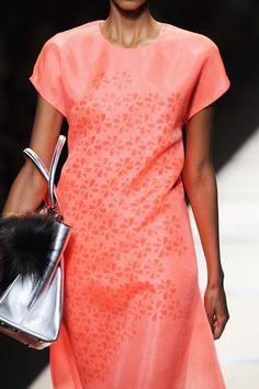 Fendi at Milan Fashion Week Spring 2014 - Details Runway Photos Spring 2014, Spring Summer, Summer 2014, Pink Grapefruit, Fendi, Milan, What To Wear, Style Me, Runway