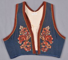 DigitaltMuseum is a common database for Norwegian and Swedish museums and collections. Folk Clothing, Norway, Scandinavian, Vest, Costumes, Embroidery, Sewing, Collection, Fashion