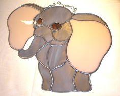 LY Elephant big ears jumbo sun catcher stained glass ...