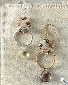 Cool use for leftover beads. Mashka Beaded Hoop Earrings