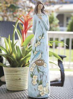Believe in Blue birds Statue  http://thegardeningcook.com/believe-in-bluebirds-angel-statue/