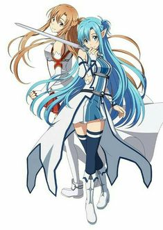 Asuna , 2 in 1 characters :P Manga Anime, Film Manga, Sao Anime, Arte Online, Kunst Online, Online Art, Sword Art Online Wallpaper, Kirito Asuna, Sword Art Online Kirito