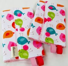 Teething Pads, Drool Pads, Strap Wraps, for baby carrier - Reversible & Water Resistant - 1 pair - for Ergo, Beco, Bjorn, Snugli